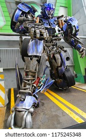 Sentosa Island,SINGAPORE -April 12,2016 :Transformers Inside Universal Studio Singapore one of the famous,Have people to visit in Singapore.