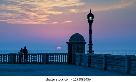 Sentry Box Sunset Cadiz Spain