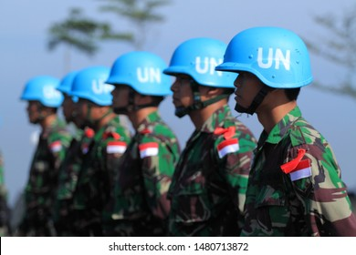 Sentul, West Java/Indonesia - May 18th, 2011: Indonesia's UN Peacekeeper troops