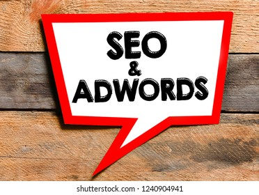 Seo and Adwords text concept