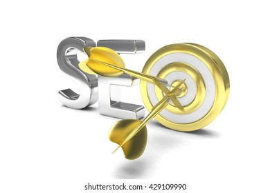 SEO concept. 3D illustration.