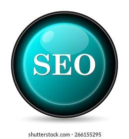 SEO icon. Internet button on white background.