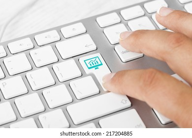 Seo Key On Computer Keyboard