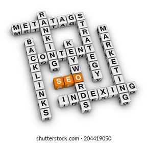 SEO search engine optimization (orange-white crossword puzzles series)