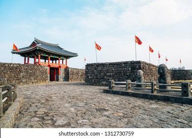 Seongeup Folk Village, Korean old traditional town in Jeju Island, Korea