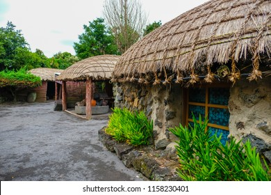 Seongeup Folk Village located in Jeju Island, South Korea.