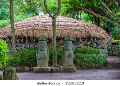 Seongeup Folk Village located in Jeju Island, South Korea.