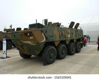 Seongnam,korea-Oct.20.2019:the Korean Army's new eight-wheeled armored vehicle.