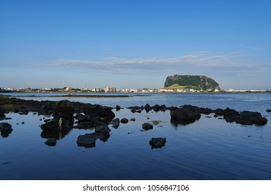 SeongSan Ichulbong(Sunrise Peak) is an volcanic cone rose from under the sea. There is a huge crater at the top of peak. One of the most famous attraction in Jeju island.