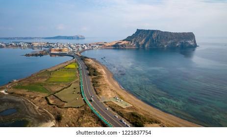 Seongsan ilchulbong Jeju island,South Korea