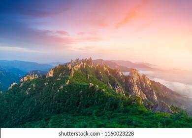 Seoraksan mountain or Seoraksan international park in south korea.
