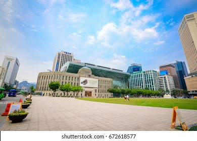 Seoul city hall on Jun 19, 2017. City Hall is a governmental building for the Seoul Metropolitan Government in South Korea.