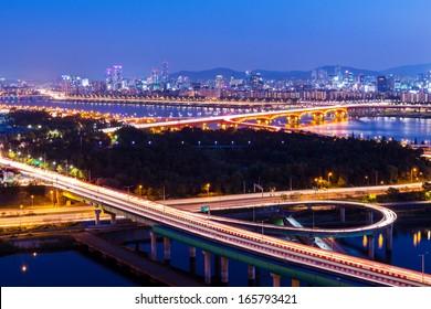 Seoul city night
