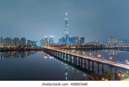 SEOUL CITY AT NIGHT IN SOUTH KOREA