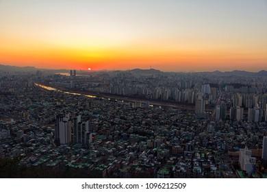 Seoul City Skyline.