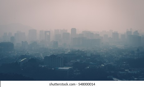 Seoul is groaning in fine dust from China