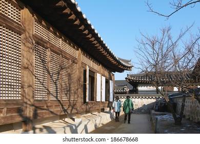 Seoul, Korea, 23 Dec 2013 - Namsangol Hanok Village