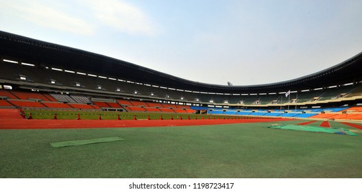 SEOUL KOREA APRIL 9: Inside the Seoul Stadium is located in Seoul, South Korea. It is the stadium built for the 1988 Summer and the 10th Asian Games in 1986. On april 9 2013 in seoul Korea.