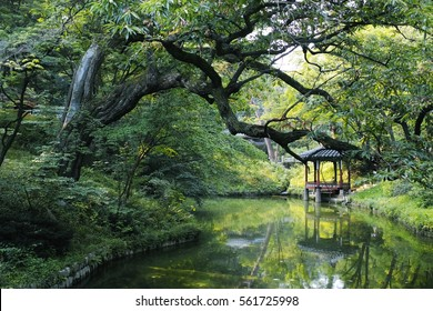 Seoul, KOREA - AUGUST 3, 2016: Secret Garden (called Huwon in Korean) of Changdeokgung Palace.