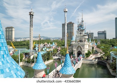 Seoul, Korea - Circa May, 2016: Lotte World, a famous amusement theme park at Seoul