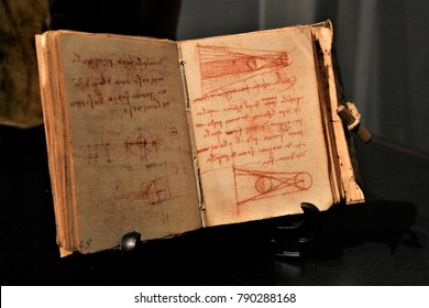 SEOUL, KOREA - December 13, 2017 : codex of Leonardo da Vinci