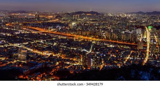 SEOUL, KOREA - December 5, 2015: Seoul city, South Korea