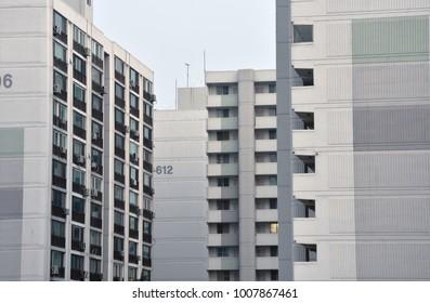 Seoul, Korea. Jan.17th, 2018 :  Apartment buildings in Seoul City. Seoul is full of apartment complexes. Koreans love living in apartments. (Korean housing lifestyle)