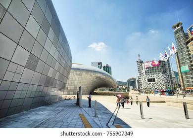 Seoul, KOREA - July, 09, 2016 - DDP, Dongdaemun Digital Plaza. DDP is the most iconic landmark of the Korean design industry.