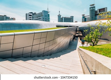 Seoul, Korea - June 5, 2017 : DDP Dongdaemun Design Plaza, modern architecture