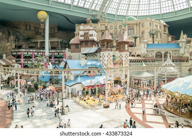 Seoul, Korea - May, 2016: Lotte World, a famous amusement theme park at Seoul