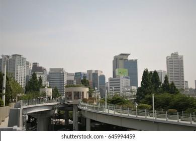 SEOUL, KOREA - May 22, 2017 : Seoul central city road park seoullo