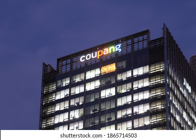 Seoul, Korea - November 5, 2020 : Coupang is Korea's largest social commerce company