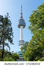 SEOUL, KOREA-SEPTEMBER 27, 2017:The YTN Seoul Tower known as the Namsan Tower or Seoul Tower, communication and observation tower, 236 meter high, it is the second highest point in Seoul, Korea.