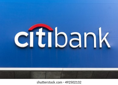 SEOUL - OCT 02: Citibank bank exterior and sign in Seoul on October 02. 2016 in South Korea