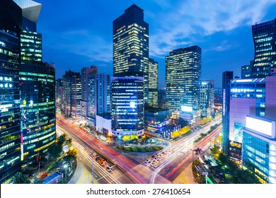 Seoul skyline at the gangnam district