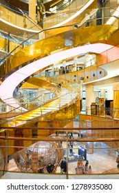 SEOUL, SOUTH KOREA - April 1, 2016 : Recently opened Lotte Avenuel Korea's largest department store dedicated to top-shelf luxury goods