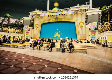 Seoul, South Korea - April 6, 2018: Garden Stage in Lotte World Adventure.