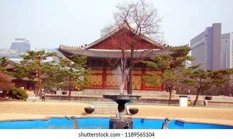 "SEOUL SOUTH KOREA APRIL 7: Deoksugung also Gyeongun-gung, Deoksugung Palace, or Deoksu Palace, ""Five Grand Palaces"" built by the kings of the Joseon Dynasty on april 7 2013 in Seoul South Korea."