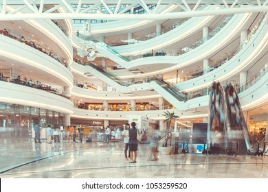 "SEOUL, SOUTH KOREA - AUGUST 17, 2015: People moving here and there while doing shoping in a huge ""Times Square Mall""- Seoul, Korea"