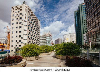SEOUL, SOUTH KOREA - AUGUST 25: View of Seoullo 7017 Skygarden near Seoul train station on August 25th, 2018