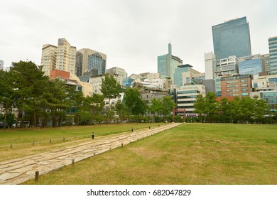 SEOUL, SOUTH KOREA - CIRCA MAY, 2017: Seoul urban landscape. Seoul Special City is the capital and largest metropolis of the Republic of Korea.
