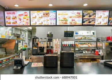 SEOUL, SOUTH KOREA - CIRCA MAY, 2017: Burger King in Seoul. Burger King is an American global chain of hamburger fast food restaurants.