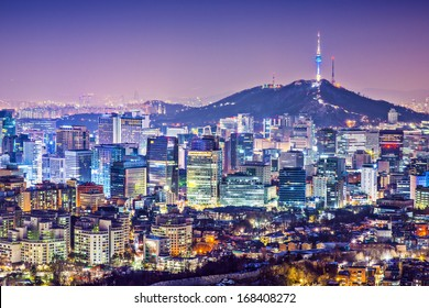 Seoul, South Korea city skyline
