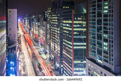 Seoul, South Korea cityscape.