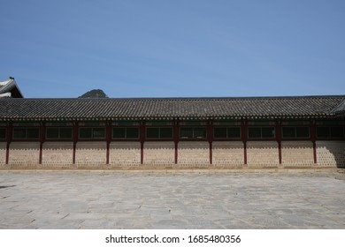 Seoul, South Korea - Gyeongbokgung Palace (Main Royal Palace of Joseon Dynasty) and its unique and historical architectural features