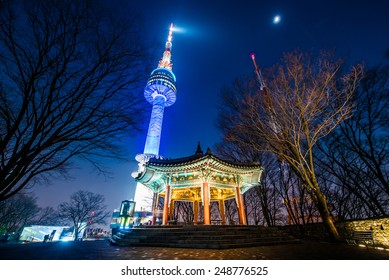 SEOUL, SOUTH KOREA - Jan 26: Night view of N Seoul Tower on January 26, 2015 in Seoul, Korea.