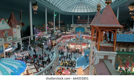 SEOUL, SOUTH KOREA. -JANUARY 19: :A beautiful view of the Theme Park in  Lotte World Mall in Seoul on January. 19,2017.