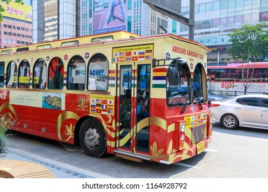 Seoul, South Korea - Jul 21, 2018 : Around Gangnam City Tour Course at station