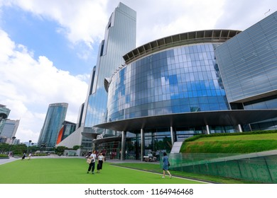 Seoul, South Korea - Jul 21, 2018 : WTC Seoul Trade Tower and Coex Convention & Exhibition Center in Gangnam district, Seoul city