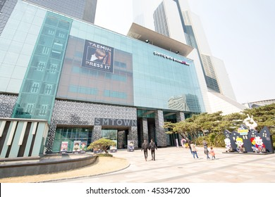 Seoul, South Korea - July, 2016: SM TOWN at COEX Artium, SM Town is the umbrella name for the recording artists under South Korean entertainment company S.M. Entertainment.